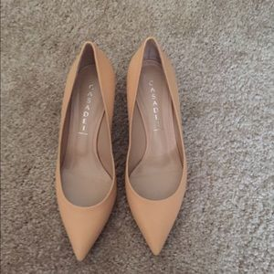 Casadei Shoes - Nwt Casadei beige leather heels