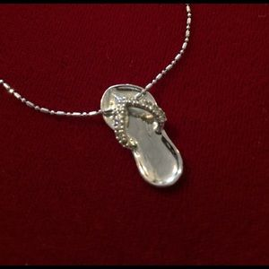 Cookie Lee Jewelry - 🌴Cookie Lee Silver Flip-Flop Necklace