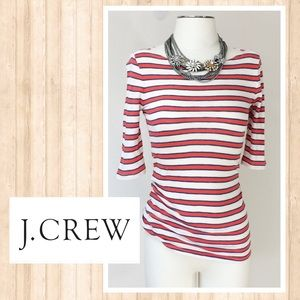 Adorable J. Crew striped boat neck tee