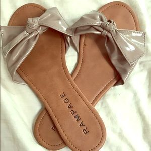 Rampage Shoes - RAMPAGE BOW SANDALS