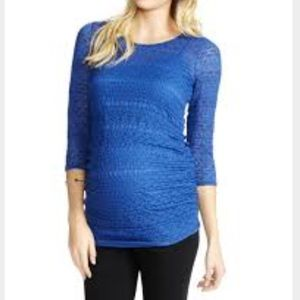 Jessica Simpson royal blue lace top