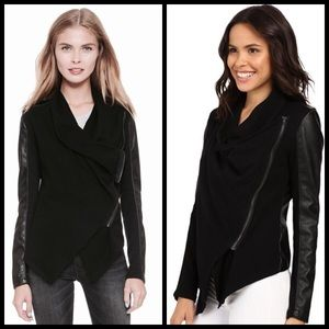 Blank NYC Jackets & Blazers - Blank NYC Vegan Leather Sleeved Jacket