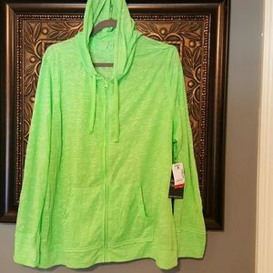 Almost Famous Jackets & Blazers - Almost Famous lime burnout jacket 3X
