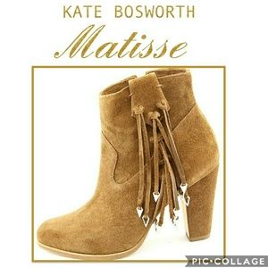 🎉HP🎉 Kate Bosworth Suede Fringe Bootie