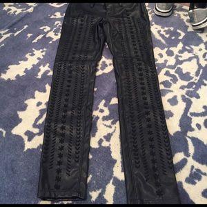 Blank NYC Denim - Vegan leather detailed pants