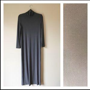 Norma Kamali Dresses & Skirts - Norma Kamali Steel Go Turtleneck Maxi Column Dress