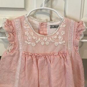 Mayoral Other - Pink and White Striped Easter Dress 🐰
