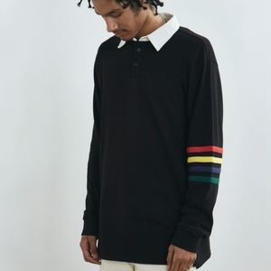 Urban Outfitters Shirts - LAZY OAF ARM STRIPE RUGBY JERSEY