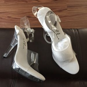 ellie Shoes - ELLIE clear competition IFBB NPC shoes sz 10