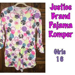 Justice Other - ⤵️Justice thermal pajama shorts romper (girls) 16