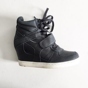 Ash Shoes - Ash Cool Ter Leather Wedge Sneakers
