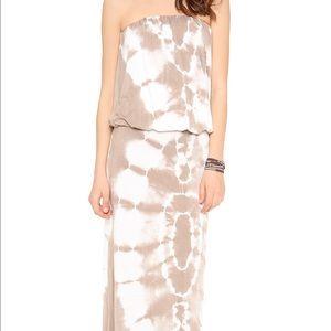 Young Fabulous & Broke Dresses & Skirts - Young Broke & Fabulous Strapless Tie Dye Maxi