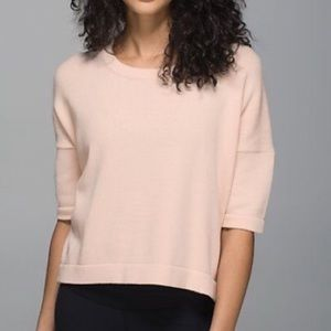 Lululemon Bhakti Short Sleeve Peach Sweater