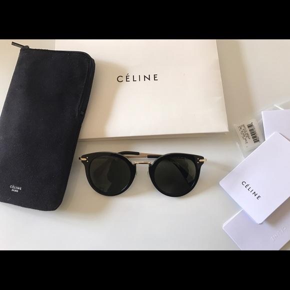 95ca7a522b67 Celine Accessories - Celine Round Sunglasses CL 41373 S Black Gold