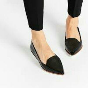 Report Shoes - Suede Black Loafer Flats