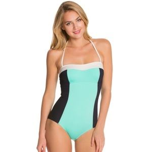 kate spade Other - Kate Spade color block pool blue one piece swim M