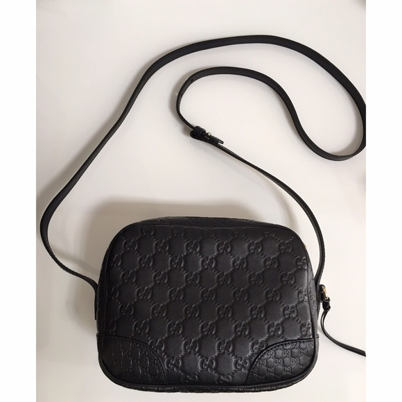 97a0b9aee326 Gucci Handbags - Gucci  Bree  Crossbody in Guccissima black leather