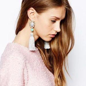 Jewelry - Rhinestone tassel earrings