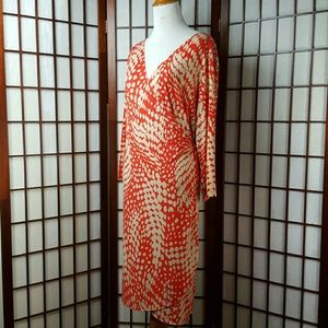 Soho Apparel Dresses & Skirts - Orange SOHO APPAREL LTD. Geometric Wrap Dress