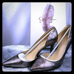 Jessica Simpson Shoes - Jessica Simpson's Metallic Pump