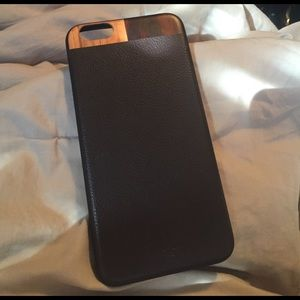 Tmbr Other - Dark Brown Leather and Wood iPhone 6 Plus Case