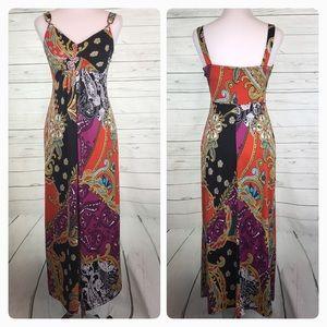 Alyn Paige Dresses & Skirts - Alyn Paige Maxi Dress paisley multicolor print