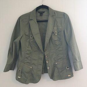 White House Black Market Jackets & Blazers - WhiteHouse BlackMarket Green Olive Military Blazer