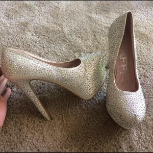 traffic Shoes - Bedazzled pumps