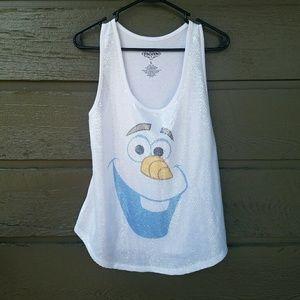 Disney Tops - Disney Frozen Olaf Sequined Top