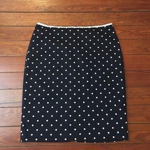 New York & Company Dresses & Skirts - Navy & polka dot New York and company pencil skirt