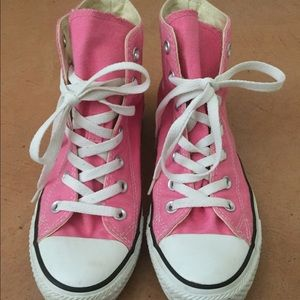 Converse Shoes - High Top Pink Converse!