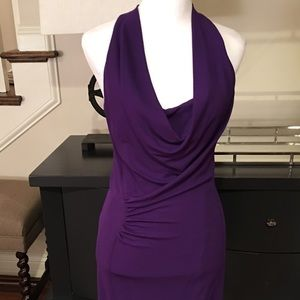 Yigal Azrouel Dresses & Skirts - Yigal Azrouel Violet Sleeveless Draped Dress