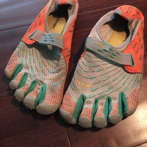 Vibram Shoes - Vibrams grey neon orange and teal