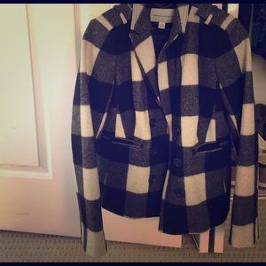 Banana Republic Jackets & Blazers - NWOT Banana Republic black & white plaid coat