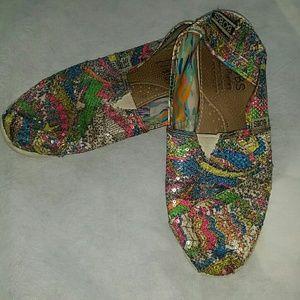 Bobs Shoes - NL! Colorful vibrant multi color sequin bob shoes