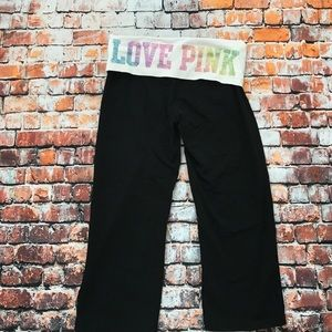 PINK Yoga cropped pants