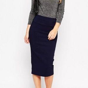 ASOS Dresses & Skirts - NWOT ASOS Navy Pencil Skirt