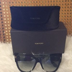 Tom Ford Accessories - 'Anoushka' 57mm Gradient Sunglasses TOM FORD black