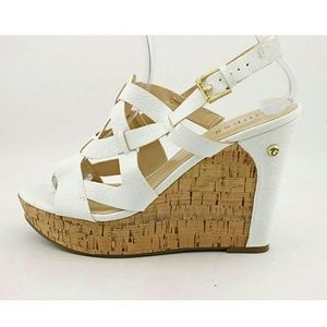 Guess Shoes - NWB, Guess, Tabetha 2 Wedge in White