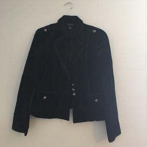 White House Black Market Jackets & Blazers - White House Black Market Velour Military Blazer
