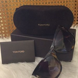 Tom Ford Accessories - 'Anoushka' 57mm Gradient Sunglasses brown