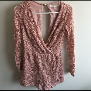 Charlotte Russe Other - Blush Lace Romper