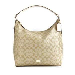 Coach Handbags - Coach Signature Celeste Convertible Hobo - Khaki