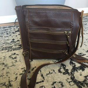 Lucky Brand All leather CrossBody bag