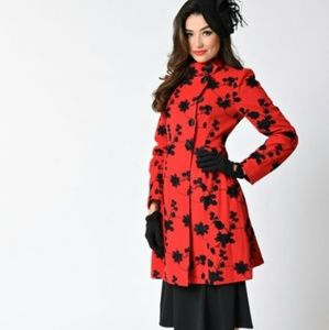 Voodoo Vixen Jackets & Blazers - Voodoo Vixen red floral jacket, vintage,  medium