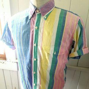 Gant Other - GANT Woven Cotton Striped Short Sleeve Button