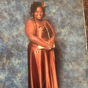 Plus Size torrid chocolate brown prom dress