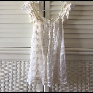 pinky Tops - Pinky 💕 delicate lace tank top s cream boho hippy