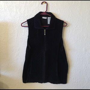 White Stag Jackets & Blazers - White Stag black velvet vest!