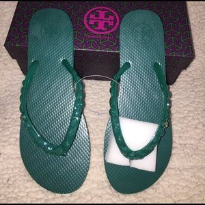 Tory Burch Shoes - NEW💚 TORY BURCH JEWELED FLIP FLOP